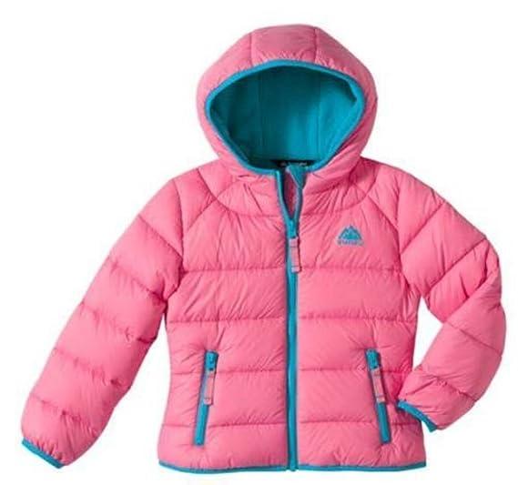 Snozu - Chaqueta - para niña Rosa Pink with Turquoise Trim Medium: Amazon.es: Ropa y accesorios