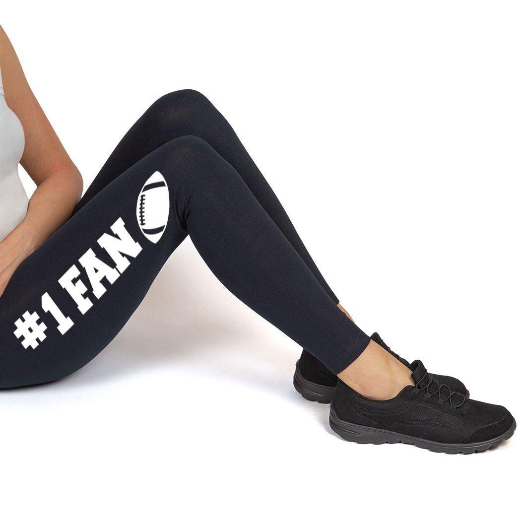 ChalkTalkSPORTS Football High Print Legging #1 Fan with Football