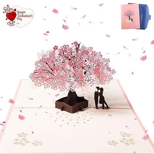 ZARRS Tarjeta para Boda,3D Tarjetas de Felicitación Pop-up Tarjeta Amor para Bodas San Valentín Cumpleaños Aniversario Compromiso Navidad Romántica ...