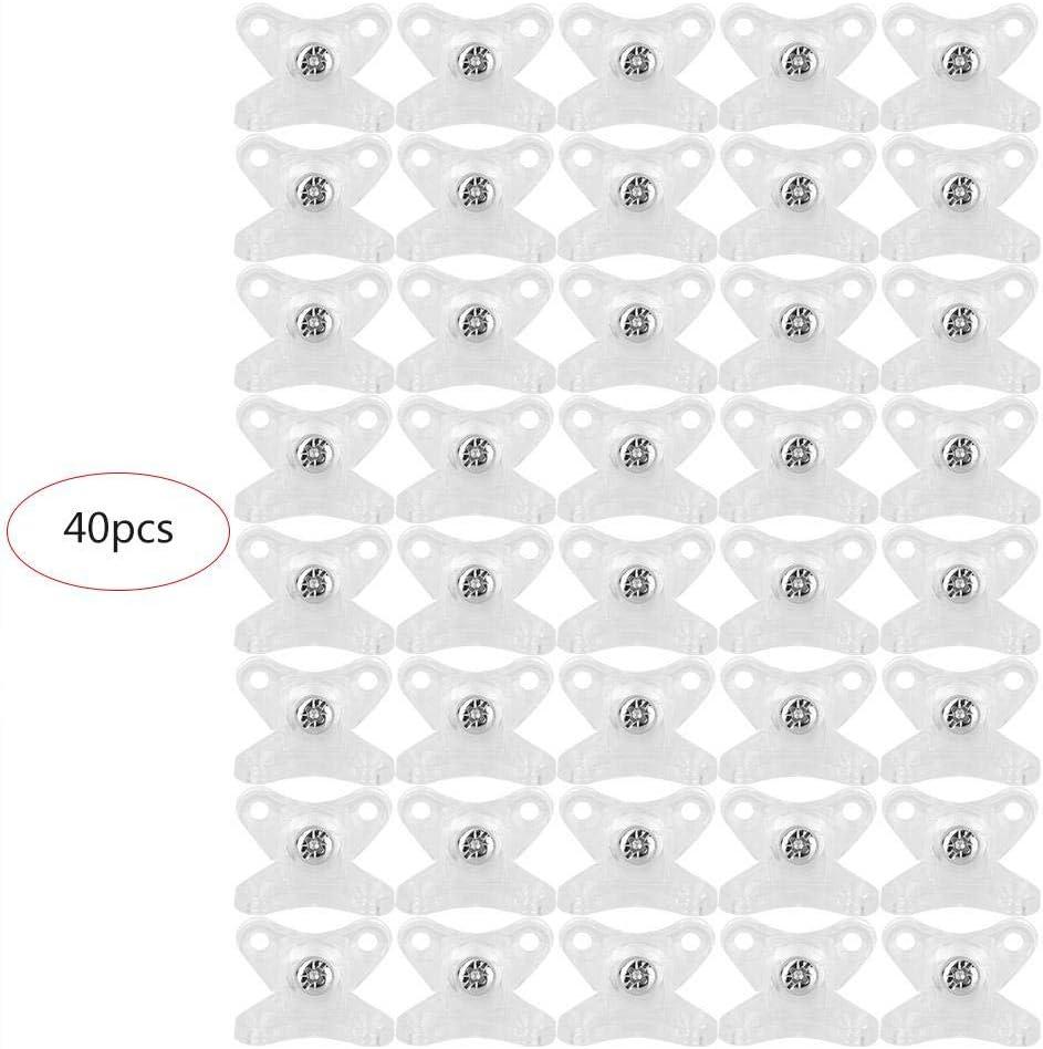 TOPINCN 40Pcs Soporte Esquina Articulaci/ón Pl/ástico Soporte Estante /Ángulo Recto Soporte C/ódigo Esquina Accesorios Gabinete Fuerte Estabilidad F/ácil Instalaci/ón Blanco