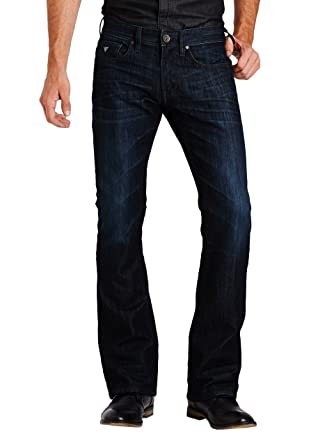 GUESS Regular Bootcut Jeans at Amazon Men's Clothing store: