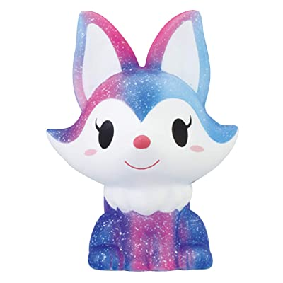 ibloom Foxy Fox Slow Rising Squishy Toy (Stella, Blueberry Scented, 4.7 Inch) [Birthday Gifts, Party Favors, Stress Relief Toys for Kids, Adults, Squishy Collectors]: Toys & Games