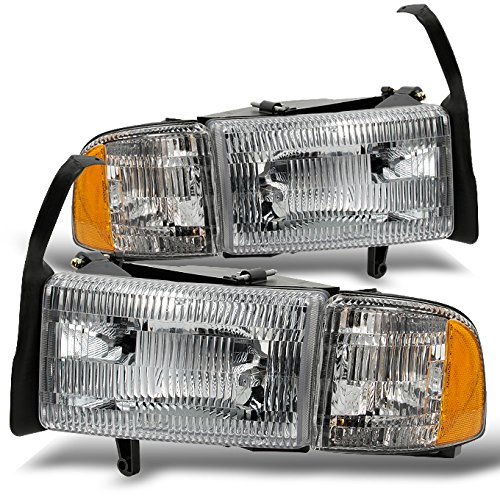 Dodge Ram Pickup 1500 2500 3500 Headlights w/ Corner Replacement Driver + Passenger Side Pair Set