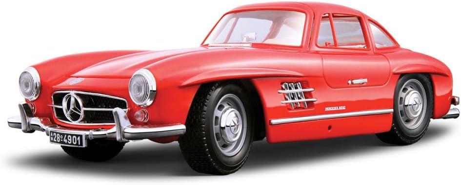 1954 silber Mercedes 300 SL W198 Modellauto 1:18 // Burago