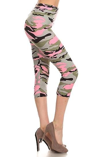 653352aa1aac9a Leggings Depot Women's Plus Size High Waisted Capri Print Leggings ...