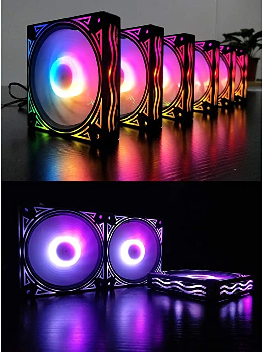 YSM Pc Case Fan Cooler Master Fan 120Mm Ultra Quiet Computer PC Case Fan 12V Silent 12Cm Fan Box 6Pin Heat Sink Cooler,Fan2