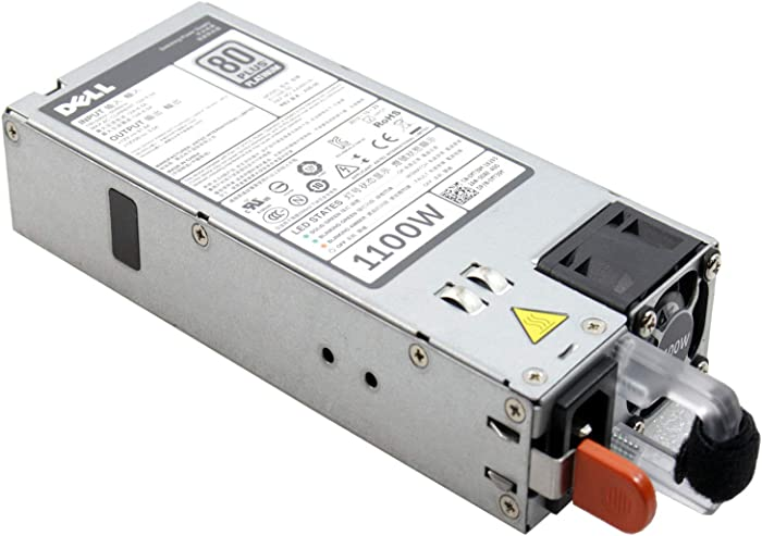 New Dell PowerEdge R520 R620 R720 R720XD R820 R920 T320 T420 T620 PowerVault DX6112 SN Server Power Supply 1100 Watt GYH9V YT39Y W933G NTCWP 38GYJ GDPF3 HT6GX 331-5926 L1100E-SO, PS-2112-4D-LF