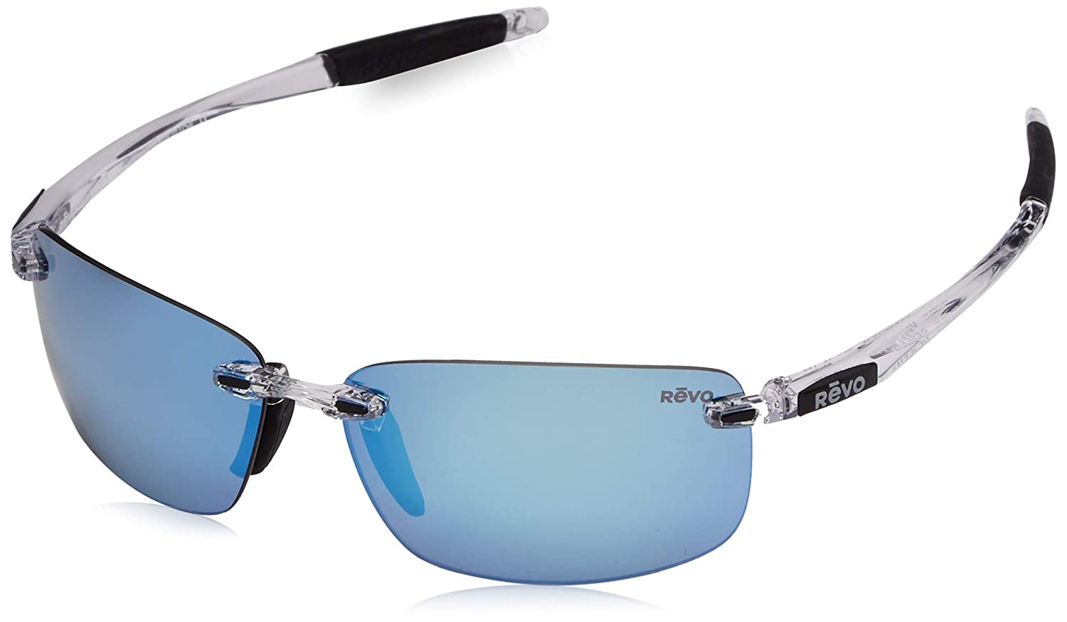 57b2f8450aa Revo RE4059-09BL RE4059 Descend N Crystal - Blue Water Polarized Sunglasses   Amazon.co.uk  Clothing