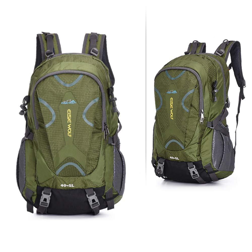 ANLD Outdoor-Sportrucksack Multifunktions-Freizeitsport Fitness-Rucksack wasserdicht verschleißfest Reisen Camping Klettern,Grün