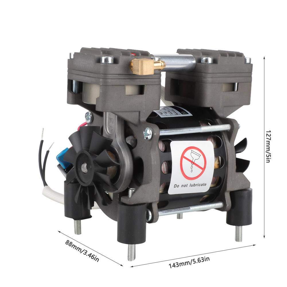 mini bomba de aire libre de aceite 620mmHg//-82kpa 20L//min para laboratorio Bomba de vac/ío sin aceite m/édica autom/ática 220V 85W