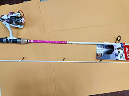 Amazon Com Eagle Claw Addictive Fishing Mogan Maiden Spinning Rod And Reel Combo 2 Piece 7 Fast Pink Camo Sports Outdoors