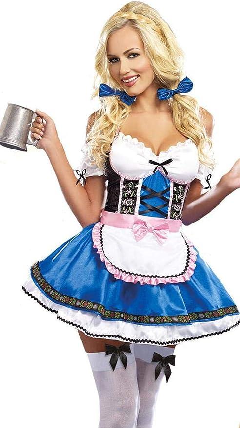 Aeromdale Disfraces de Oktoberfest para Mujer Vestido de otoño ...