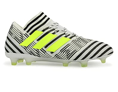 factory price e7889 49591 adidas Men s Nemeziz Messi 17.1 FG White Solar Yellow CORE Black Shoes - 8.5