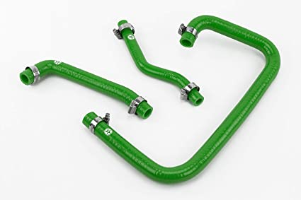 Green Stoney Racing Silicone Full Coolant Hose Kit with Clamps DEF300-0002G-CK