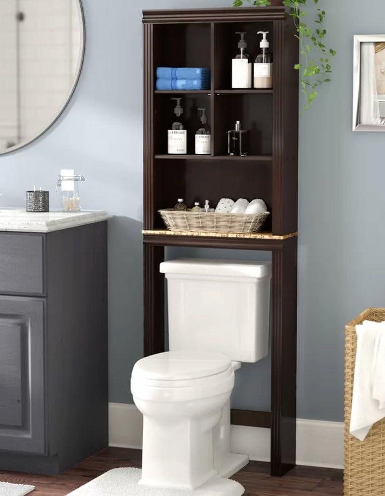 Amazon.com: Milledgeville Bathroom Storage Space Saver Over Toilet ...