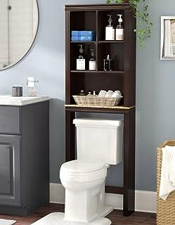 Bathroom Storage Space Saver Over Toilet Cabinet Organizer w/Shelves 68  H in Cherry & Amazon.com: Sauder Peppercorn Etagere Bath Cabinet Cinnamon Cherry ...