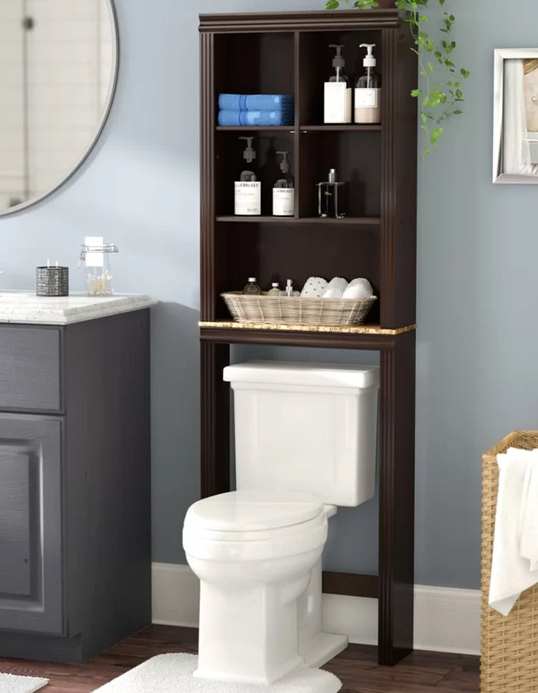 Bathroom Storage Space Saver Over Toilet Cabinet Organizer w/Shelves 68