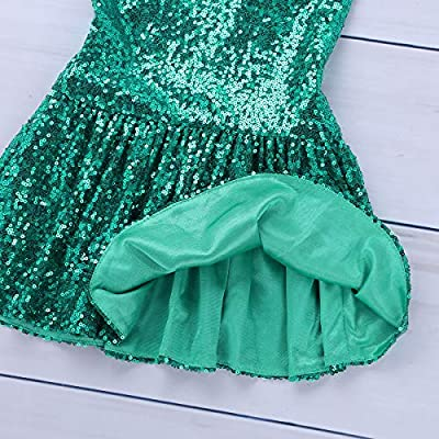 TiaoBug Kids Girls Sequins Mermaid Tails Halloween Cosplay Party Costume Fancy Dress Child Bikini Swimming Long Skirt: Clothing