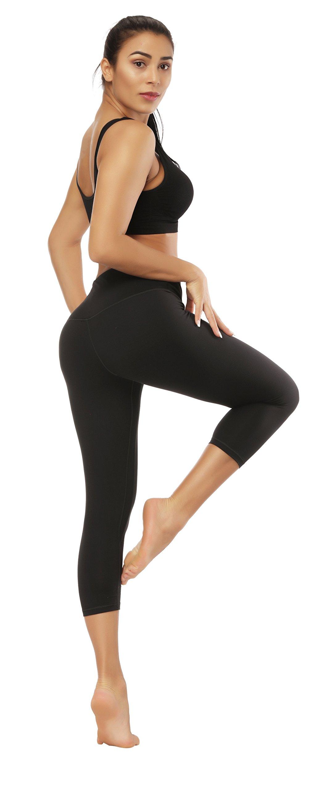 Fengbay Capris Leggings, Capris Yoga Pants Tummy Control Workout Running 4 Way Stretch High Waist Capris Workout Leggings by Fengbay (Image #4)