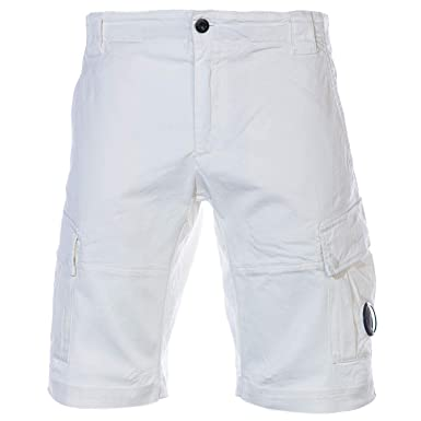 d26aa3ad4a66b CP Company Lens Cargo Short in White: Amazon.co.uk: Clothing