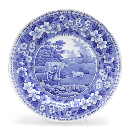 Collection Room Blue Plate Dinner (Blue Room Collection by Spode, Stoneware Dinner Plate, Milk Maid)