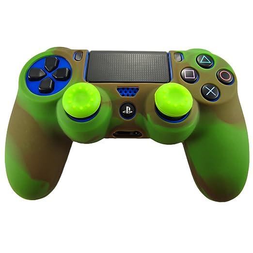 333 opinioni per Pandaren® Pelle cover skin per il PS4 controller(rosso verde) x 1 + pollice