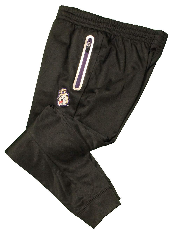 RussellApparel NCAA James Madison University Mens Poly Fleece Pants Black