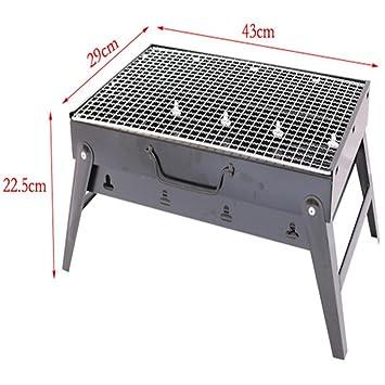 LYQ barbacoa al aire libre plegable home portátil carbón parrilla picnic carbón de leña parrillas de