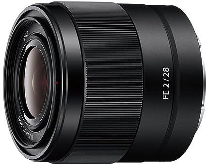 Sony SEL-28F20 Weitwinkel Objektiv (Festbrennweite, 28 mm, F2, Vollformat, geeignet für A7, A6000, A5100, A5000 und Nex Serie