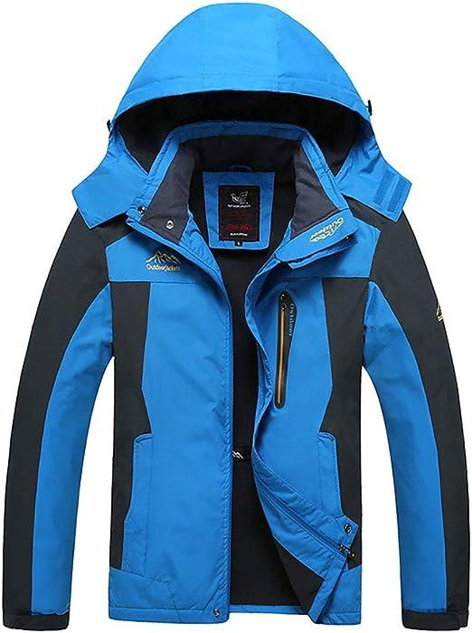 フード付きメンズ屋外フリースジャケット冬防水暖かいスキーマウンテンジャケット