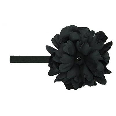 Black Flowerette Burst with Black Small Peony, Size: 18m-4y