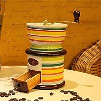 Vintage Style Manual Koffiemolen, gemaakt van hoogwaardig keramiek, Portable Hand Crank Grinder voor reizen of Camping