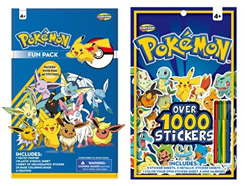 One Pokemon Sticker (Pokemon Sticker Book & Fun Pack Set - Includes over 1000 stickers)