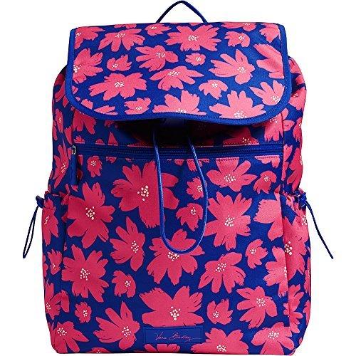 Vera Bradley Women's Lighten Up Drawstring Backpack Art Poppies Backpack