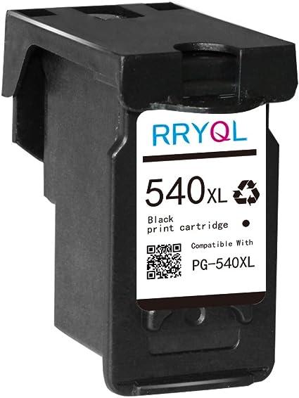RRYQL Reemplazo Cartuchos de Tinta Canon PG 540XL muestra el nivel ...