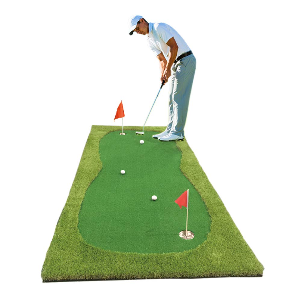 Synturfmats Golf Putting Green Mat Indoor Outdoor Golf Training Aids System Real-Like Artificial Grass Golf Simulator Putting Trainer Set for Home, Office Practise 4ft by 10ft