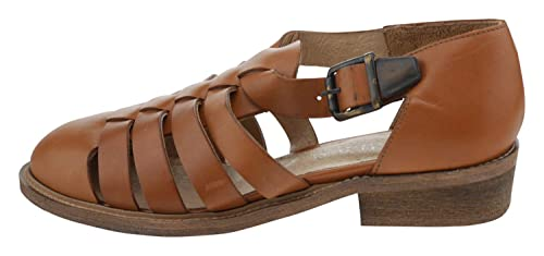 e77a633cfc4 JONAK Women s Fashion Sandals Brown Cognac Brown Size  7 UK  Amazon ...