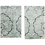 Himalaya Bamboo silk loom package of 2 rug 2 #39;x2 #39;11 quot; (60x90 cm) Modern Carpet