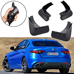 SPEEDLONG 4Pcs Car Mud Flaps Splash Guard Fender Mudguard fit for Alfa Romeo Giulia 2016-2019 (2016-2019 Romeo Giulia)