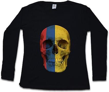 Colombia Skull Flag Mujer Camiseta de Manga Larga Tamaños XS - 2XL: Amazon.es: Ropa y accesorios
