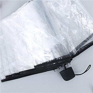paraguas Paraguas manual plegable transparente / Paraguas triple Hombre y mujer (Color : #1