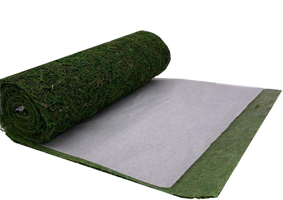30 x 180 cm 12 x71 BIUOO Roll of Moss Table Runner for Woodland Wedding Decor Green