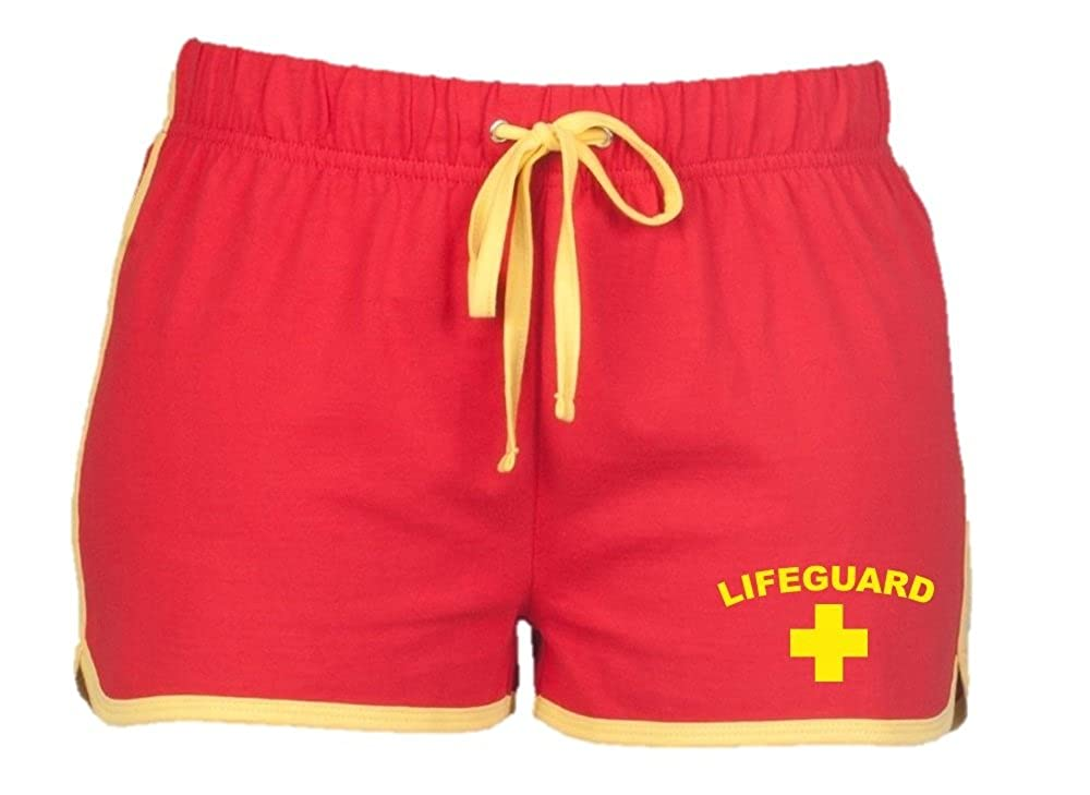 Direct 23 Ltd Lifeguard Ladies Shorts (Red/Yellow)