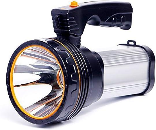 Chargeur Projecteur longue port/ée Lampe de poche Led Lampe de poche Rechargeable Puissant Flash Recherche Lampe torche Camping Lumi/ère