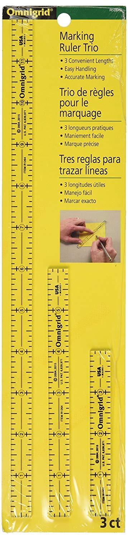 Omnigrid 4-6-12-Inch Marking Ruler Trio R1264S