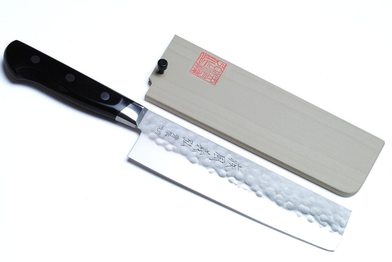 Yoshihiro 160mm Aoko Stain Resistant Steel Usuba Japanese Vegetable Knife, 6.5-Inch, Blue