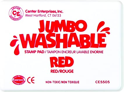 Hampton Art Almohadilla de Tinta Jumbo Lavable Color Rojo