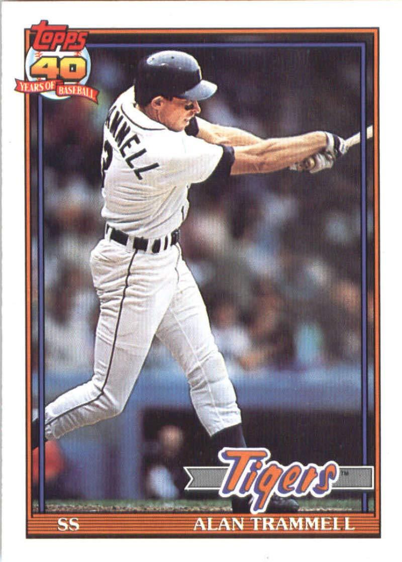 1991 O-Pee-Chee #275 Alan Trammell Detroit Tigers Baseball Card