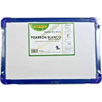 Pizarron blanco marco plastico 30 x 45 cm c/ portagis, colores surtidos