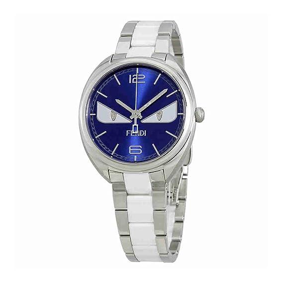Fendi F216033004D1 Momento - Reloj para mujer, esfera azul, color azul
